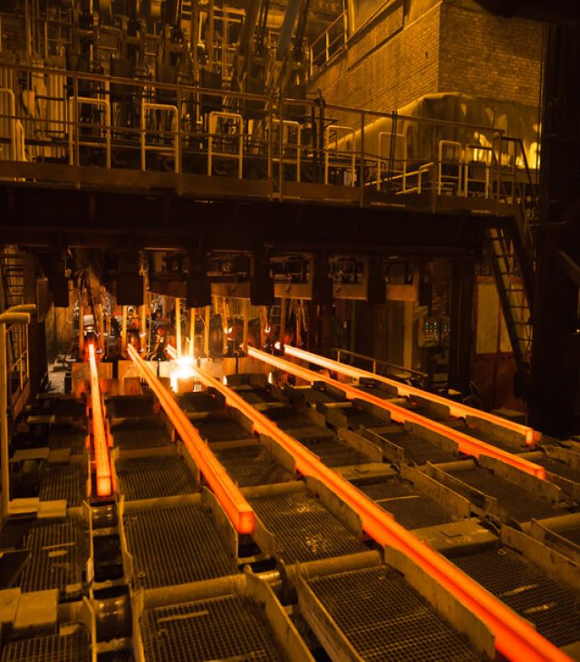 steel and metal production.